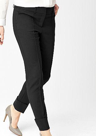 Slim fit: pantalon met stretch