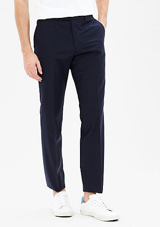Slim fit: pantalon van scheerwol