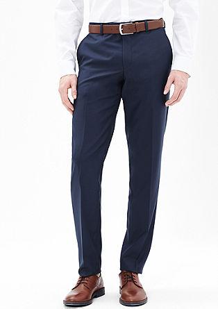 Slim fit: pantalon van zuivere scheerwol
