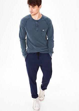 Slim fit: pigment dyed shirt van piqué