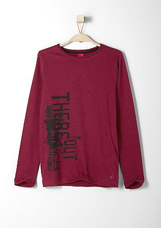 Slim fit: printed shirt