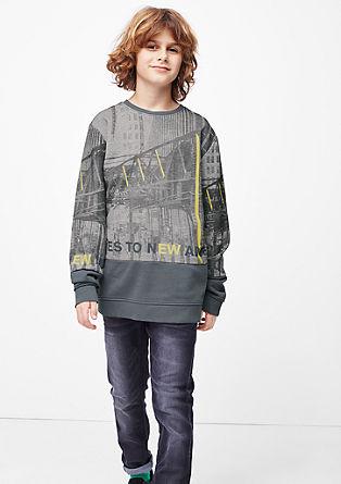 Slim fit: sweatshirt met print