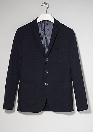 Slim fit: Tailored jacket with a piqué texture from s.Oliver