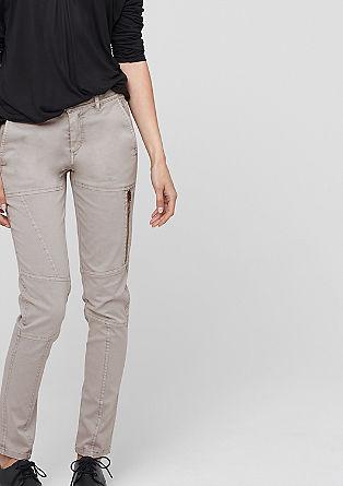 Slim fit: twill stretchbroek