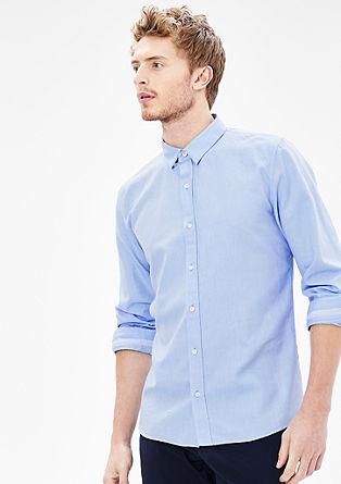 Slim fit: verkort overhemd met Oxford-structuur