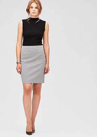 Slim fit jacquard skirt from s.Oliver