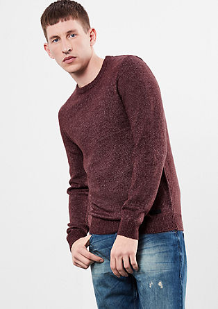 Slim fit knitted jumper from s.Oliver