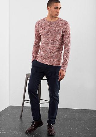 Slim fit melange jumper from s.Oliver
