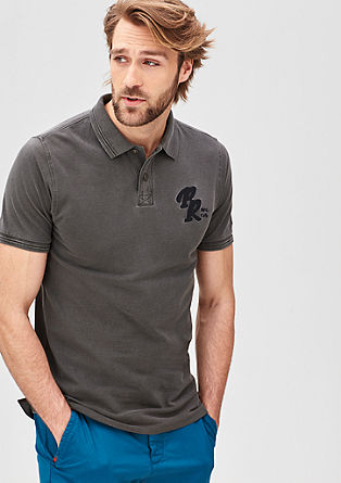 Slim fit piqué polo shirt from s.Oliver