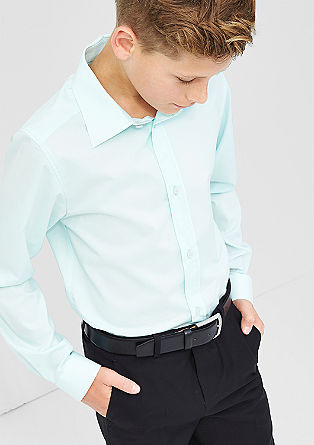 Slim fit shirt in a plain colour from s.Oliver