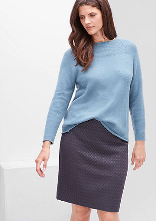Slim fit stretch jacquard skirt from s.Oliver