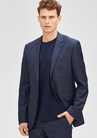 Slim fit tailored jacket with a high percentage of new wool from s.Oliver