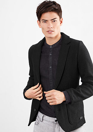 Slim fit wool jacket from s.Oliver