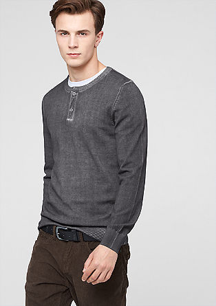Slim-fitting jumper in a vintage look from s.Oliver