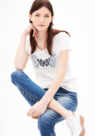 Slim-fitting printed T-shirt from s.Oliver