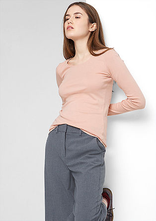 Slim-fitting ribbed top from s.Oliver