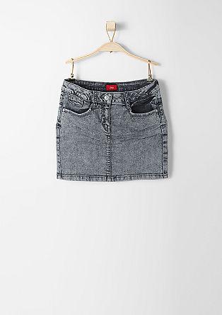 Slim-fitting stretch denim skirt from s.Oliver