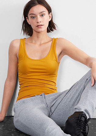 Slim-fitting tank top from s.Oliver