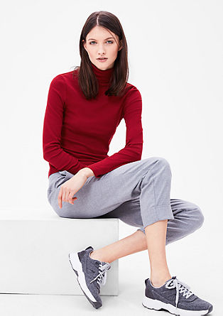 Slim polo neck top from s.Oliver