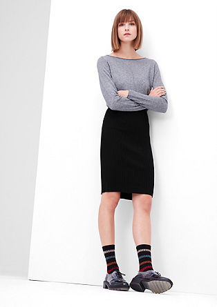 Slim rib knit skirt from s.Oliver