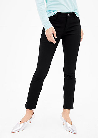 Slim trousers with a pattern from s.Oliver