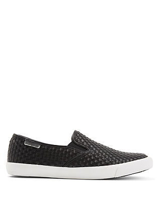Slip-on Sneaker in Flecht-Optik