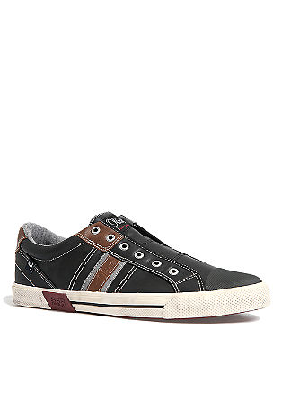 Slip-on Sneaker in Leder-Optik
