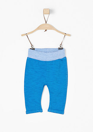 Slub yarn jersey trousers from s.Oliver