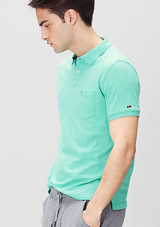 Slub yarn polo shirt from s.Oliver