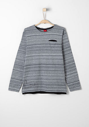Slub yarn T-shirt with a chest pocket from s.Oliver