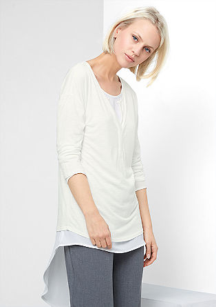 Slub yarn top with 3/4-length sleeves from s.Oliver