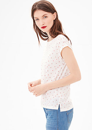 Slub yarn top with a printed pattern from s.Oliver
