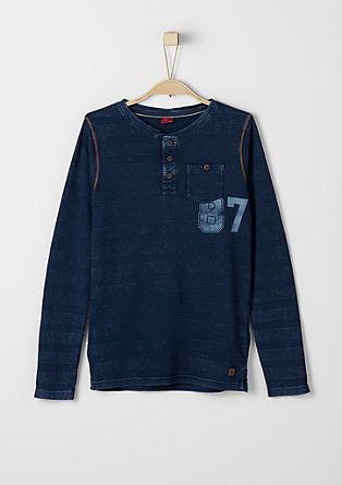 Smal gestructureerd shirt met knopen