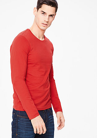 Smalle longsleeve van jersey