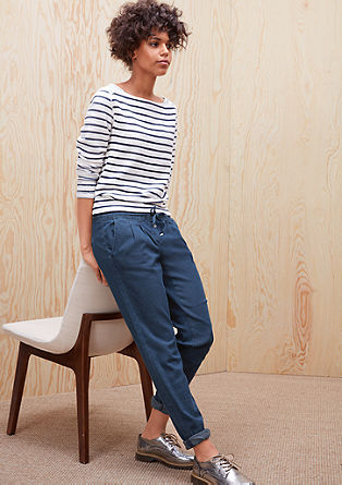 Smart Ankle: Denim chinos from s.Oliver