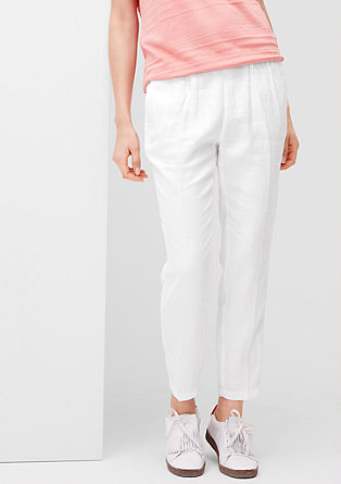 Smart Ankle: linen trousers from s.Oliver