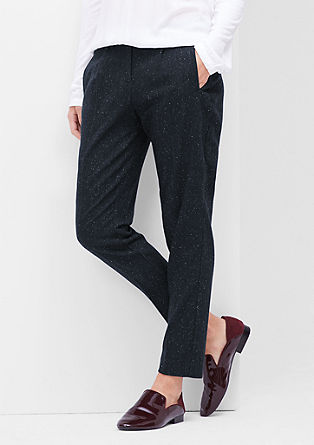 Smart Ankle: Mottled tweed trousers from s.Oliver