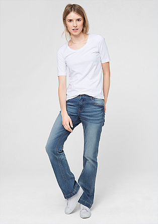 Smart Bootcut: Helle Stretch-Jeans