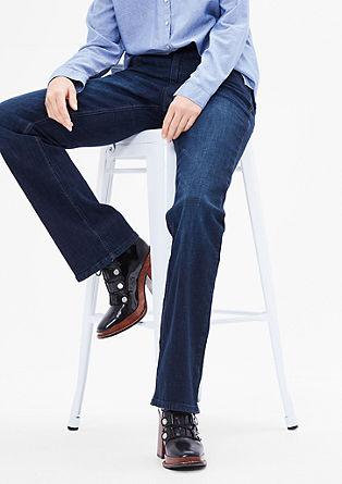 Smart bootcut: jeans met uitlopende pijpen