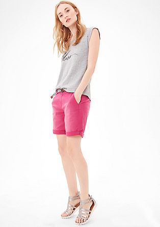 Smart Chino: Bermudas with a belt from s.Oliver