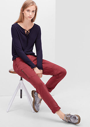 Smart Chino: cloth trousers in a rocker look from s.Oliver