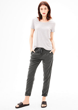 Smart Chino: Flowing cloth trousers from s.Oliver