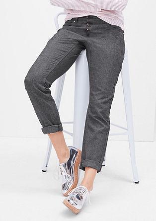 Smart Chino: Geknöpfte Ankle-Hose