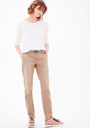 Smart Chino: hlače s pletenim pasom