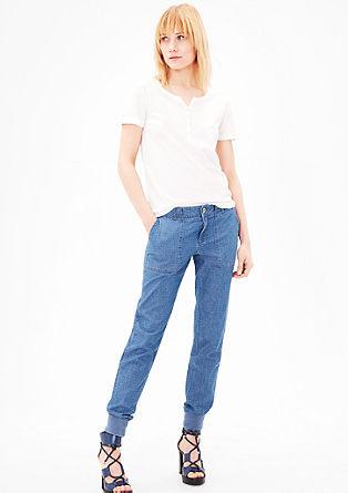 Smart Chino: hlače z vzorčasto teksturo
