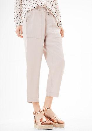 Smart Chino: kalhoty se lnem