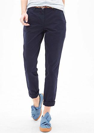 Smart Chino: kalhoty se splétaným opaskem