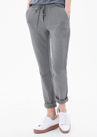 Smart Chino: Mottled tracksuit bottoms from s.Oliver