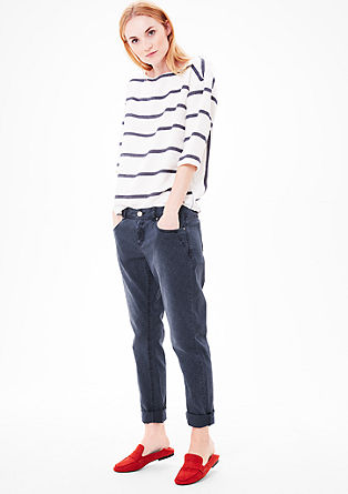 Smart Chino: Patterned trousers from s.Oliver