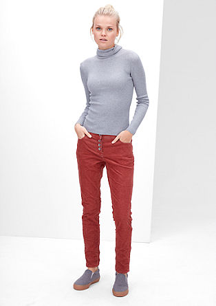 Smart Chino: stretch corduroy trousers from s.Oliver